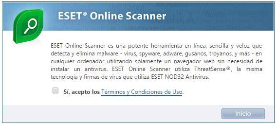 Portada de antivirus Online gratis de ESET