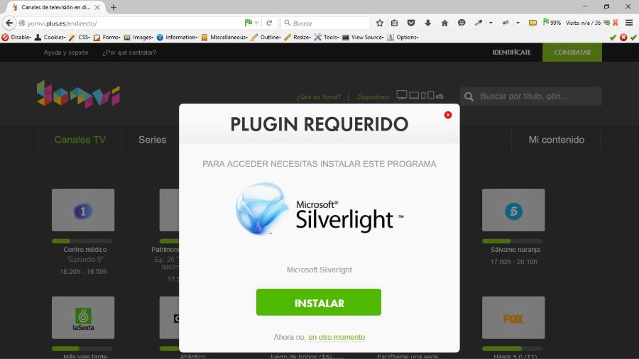 Instalando Silverlight