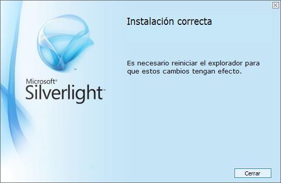 Instalacion correcta de silverlight