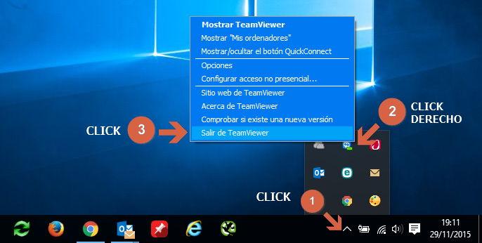 Cerrar TeamViewer