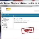 Instalar Lexnet Abogacía y Lexnet Justicia (Probado)