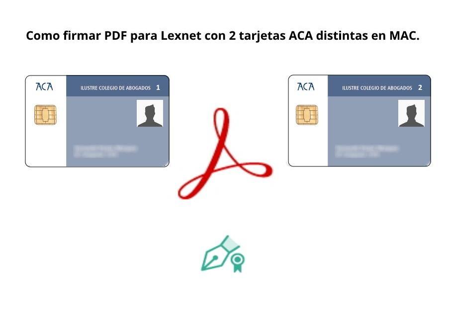 Como firmar PDF para Lexnet con 2 tarjetas ACA distintas en MAC