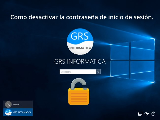 Pantalla de login de windows 10