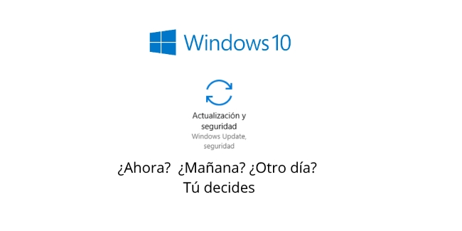 Decidir cuando instalar actualizaciones en Windows 10