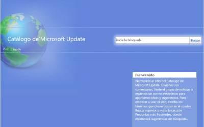 Imagen de la pagina del Catalogo de descargas de Microsoft