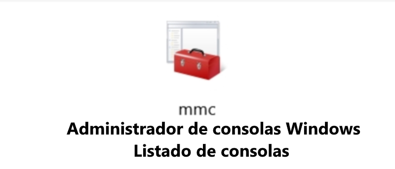 Logotipo Administrador de Consolas de windows