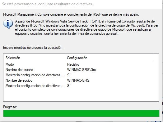 Visor de políticas de grupo de Windows